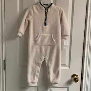 NWT-Carter's One Piece Faux Sherpa Jumpsuit